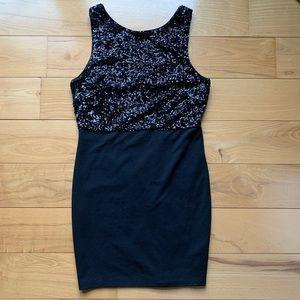 Forever 21 Black Sequin Dress Sz Large